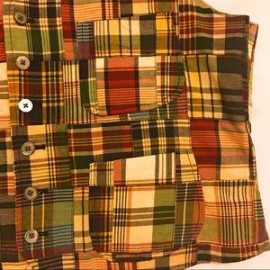 Polo by Ralph Lauren Jackets & Coats - Polo Ralph Lauren Patchwork Plaid Button Vest